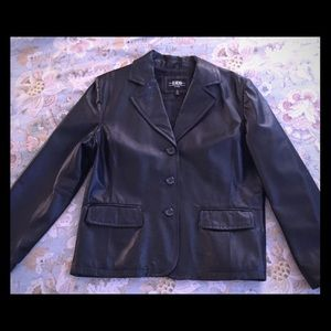 Black Leather Jacket from B moss SZ XL Never Worn